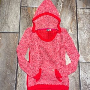 Red Roxy Knit Hoodie